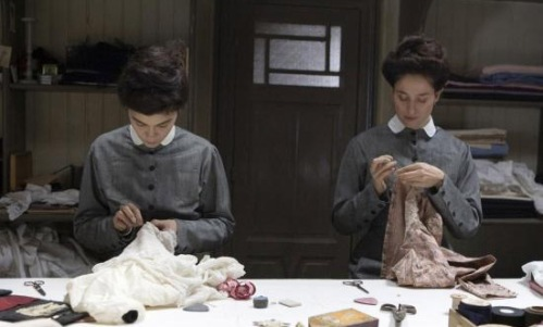 As a seamstress with her sister